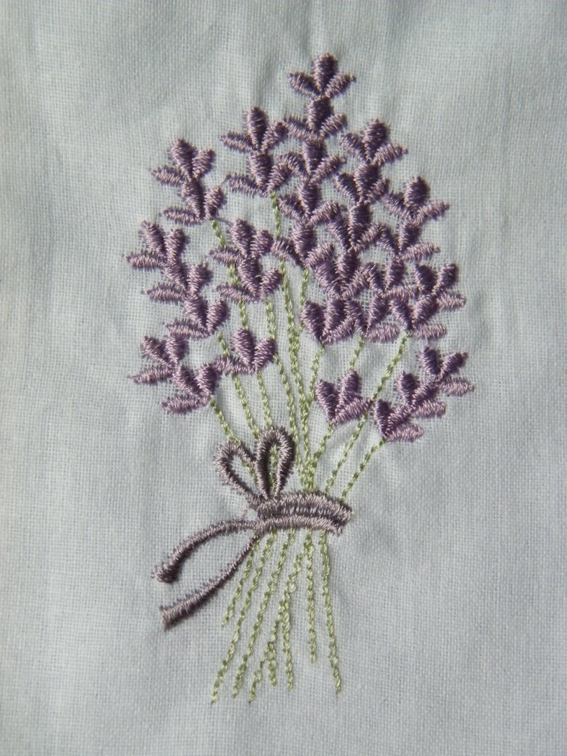 Lavender bag embroidered filled daisyshop for dried flowers