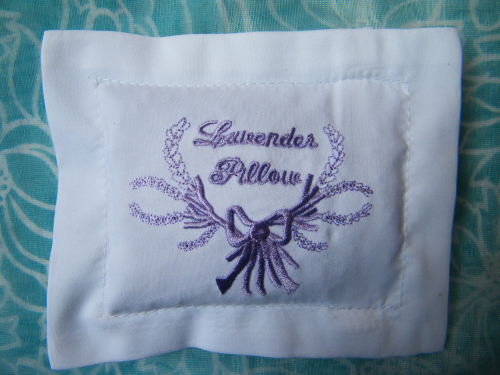 Small lavender pillow