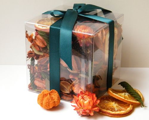 Fruity Orange potpourri gift box