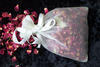 Rose petal confetti bag