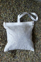 Lavender pouch, large cotton, filled