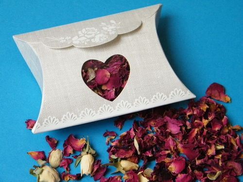 Rose design pillow box with window empty