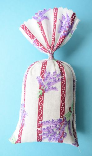 Printed cotton lavender bag filled