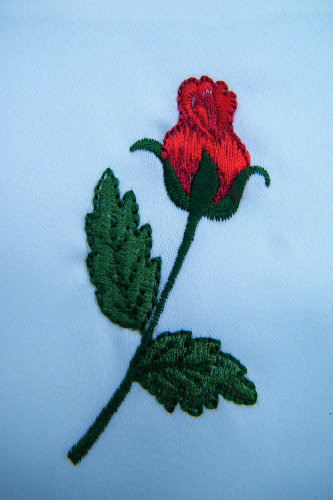 Embroidered gift bag Rose empty x10