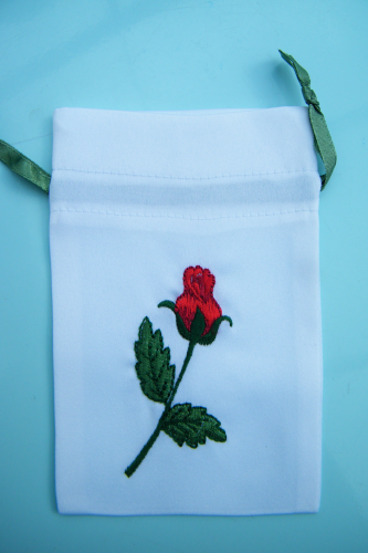 Embroidered gift bag Rose empty