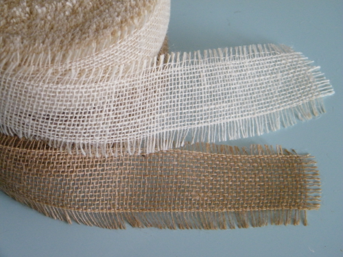 Jute ribbon by the metre