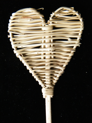 Heart pick wicker natural