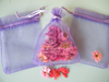 Organza bag lavender colour 9x12cm bulk