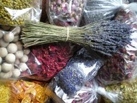 Dried flowers bunches and petals shop
