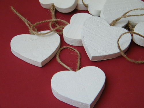 Christmas crafts daisyshop for dried flowers for Wooden hearts for crafts