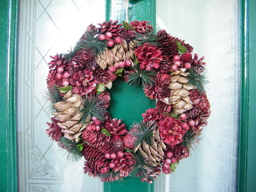 Red and gold glitter Christmas wreath 50% OFF!