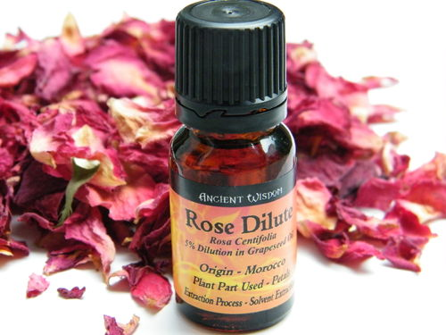 Rose essential oil dilute