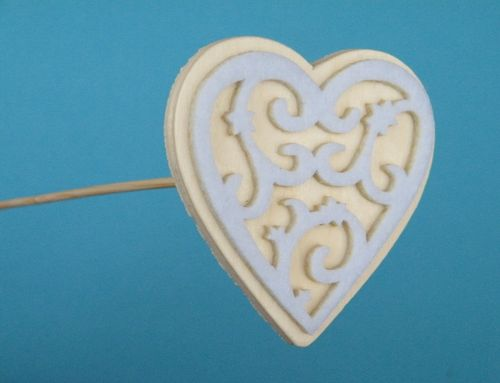 Cut out felt heart pick