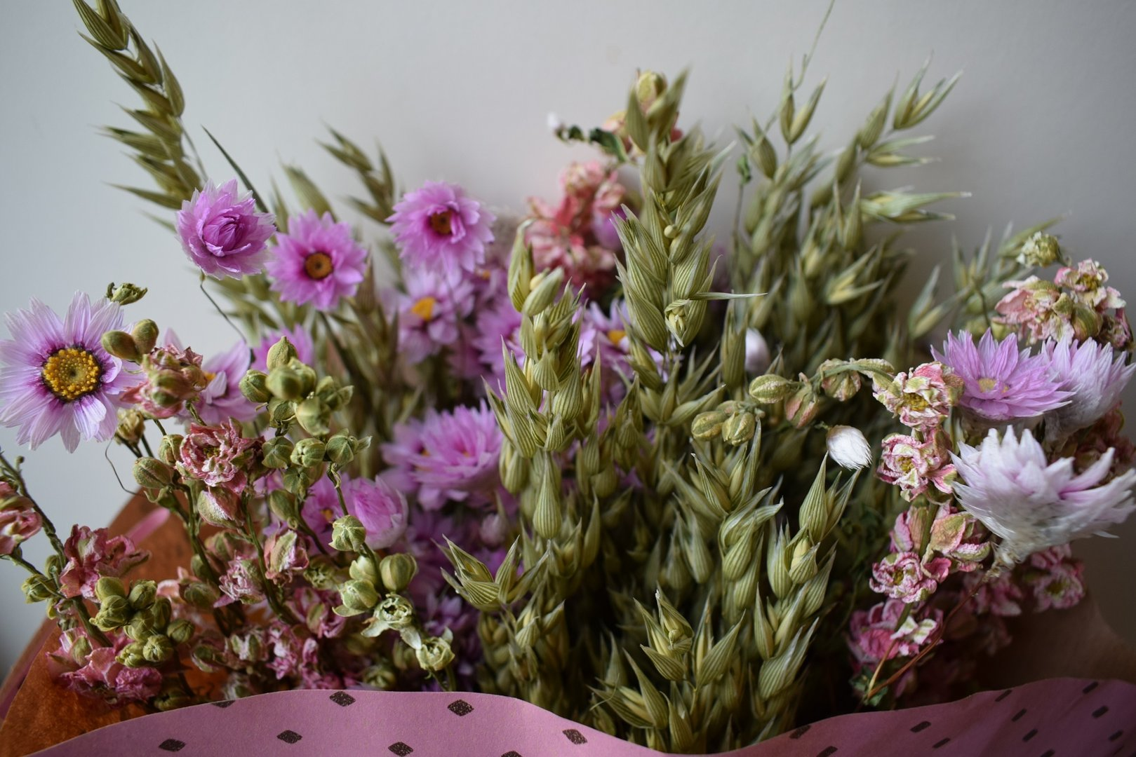 Large mixed dried flower bouquet pink daisyshop dried flowers large mixed dried flower bouquet pink seconds izmirmasajfo Images