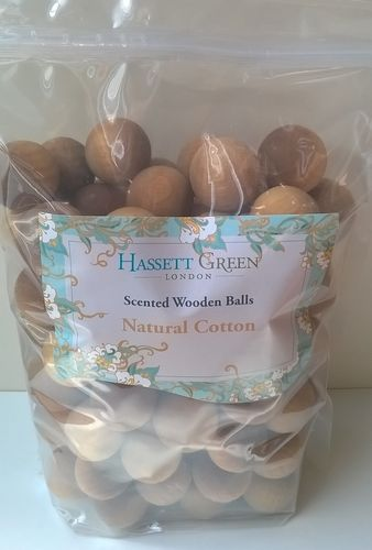 Scented wooden balls Natural Cotton bulk packs