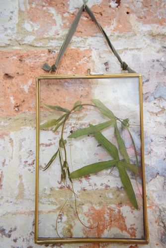 Hanging pressed flower frame empty brass 10cm