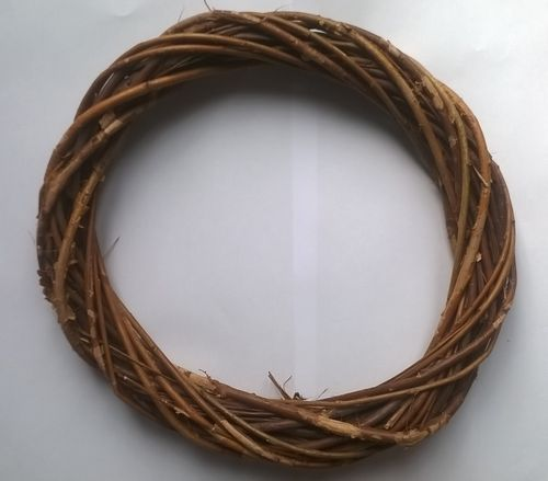 Willow wreath ring natural brown 25cm SECONDS