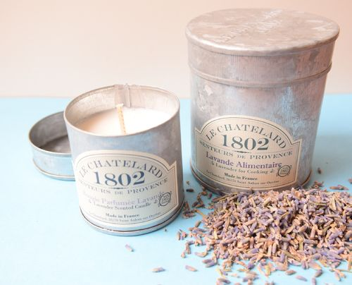 Culinary lavender and lavender candle gift tins Offer