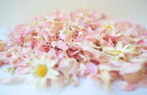 Natural wedding confetti petals Meghan mix