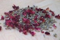 natural wedding confetti - lavender rose petal confetti
