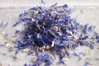 Pure dried cornflower petals blue