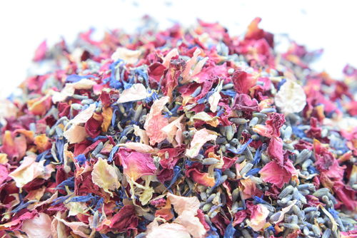 Cornflower mix dried flower petal confetti