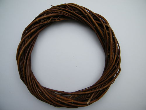 Willow wreath ring natural brown