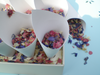 Confetti cones x25 and stand, empty, 20% Off!