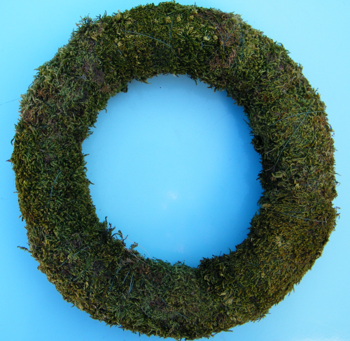 Wreath ring base preserved moss 25cm