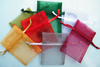 Mini organza bags empty, Christmas colours