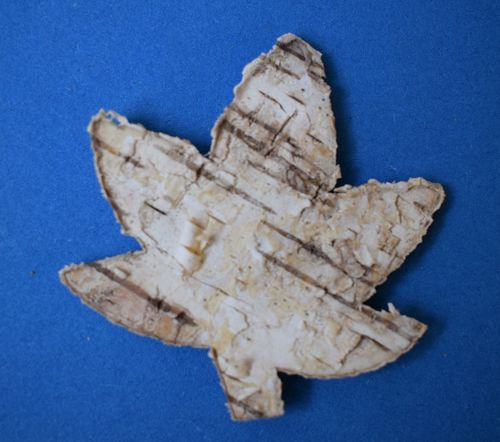 Natural bark leaf shape