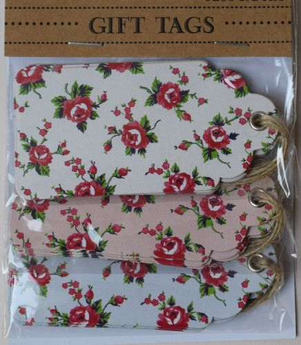 Rose gift tags pack of 15
