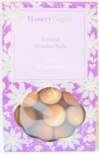 Lilac and Lavender scented wooden balls gift pack