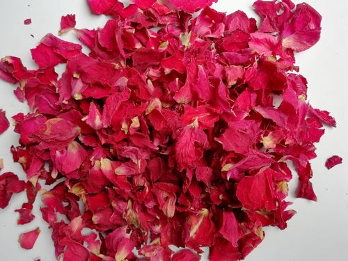 Dried rose petal confetti red - litre