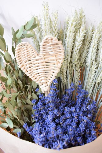 Large British dried flower bouquet with lavender