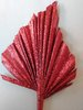 Palm spear red glitter handmade dried leaf multipack