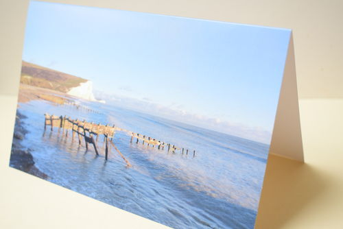 Greetings card blank - British coast - Offer