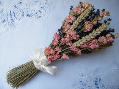 dried flower bunch lavender dried flowers wheat delphinium